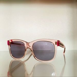 NWOT Christopher Kane Clear Pastel Pink Sunglasses